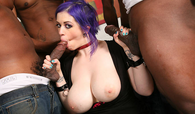 Deepthroat swallow cock and balls