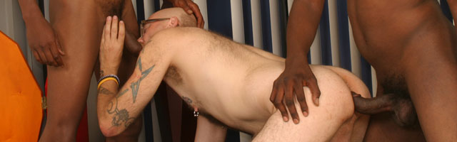 Blacks On Boys gay interracial sex video