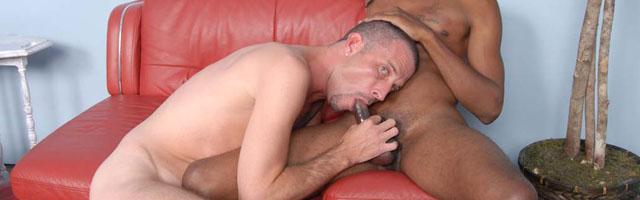 Blacks On Boys gay interracial sex video