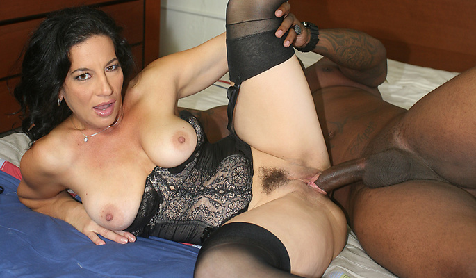 Melissa Monet interracial sex video from Blacks On Cougars