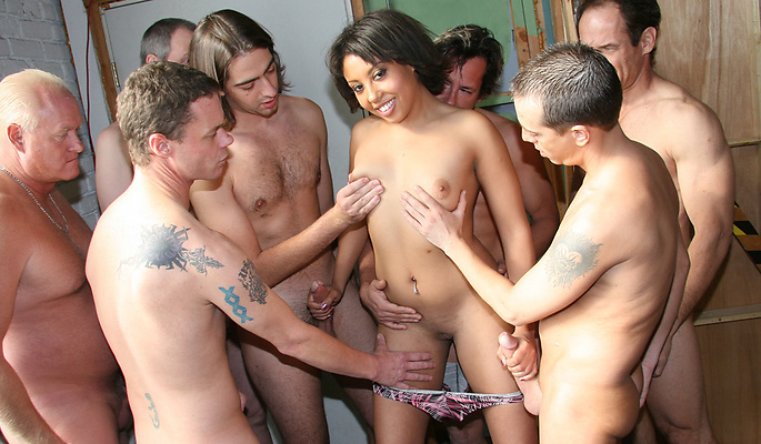 Black Angelika gang bang video from Cum Bang