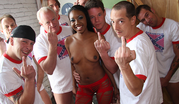 Nina Devon gang bang video from Cum Bang