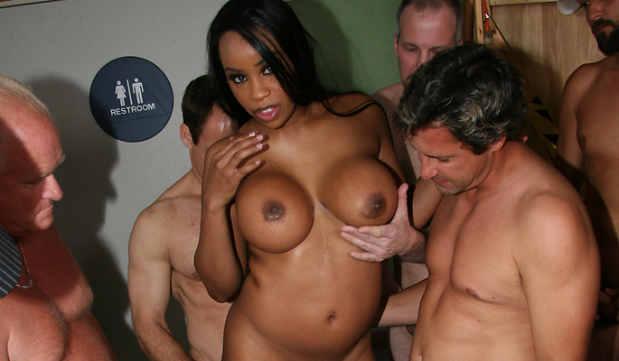 Sandi Jackman gang bang video from Cum Bang