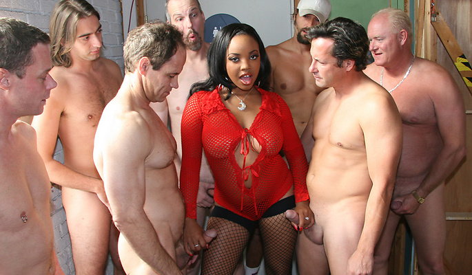 Stacie Lane gang bang video from Cum Bang