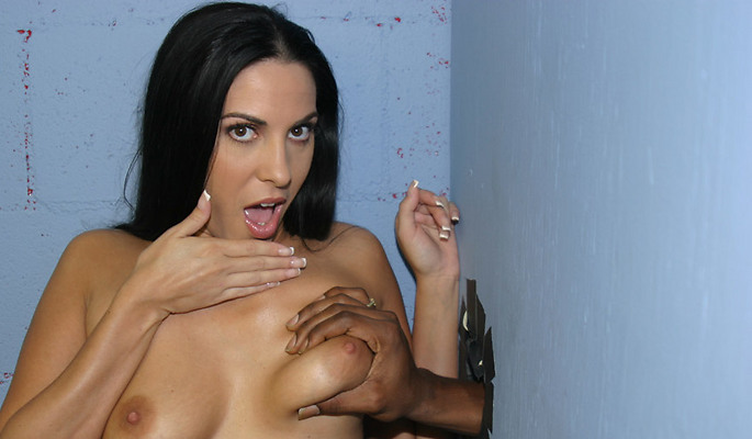 Mia East - What is it exactly about a gloryhole in a disgusting bathroom that makes an otherwise commonsense hot babe go in there, take a stranger's huge black dick and put it in her mouth? Not only that, but to continue sucking, and give a complete stranger a blowjob, and finish him off in that same mouth. Just flat out eating the sperm of a man she doesn't even see, yet know who he actually is! Anonymous cocksucking with some of the hottest babes on the planet, and some of the horniest big black dicks spewing their funky loads into hungry mouths.