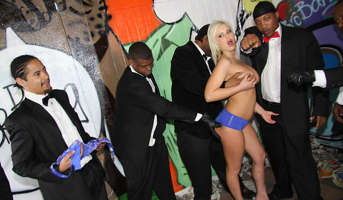 Andi Anderson gang bang video from Interracial Blow Bang