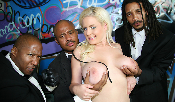 Interracial Blow Bang gang bang video
