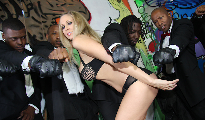 Julia Ann gang bang video from Interracial Blow Bang